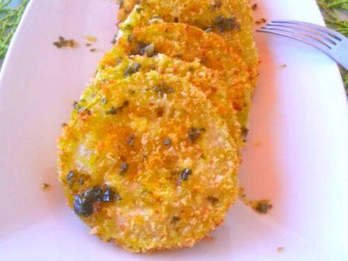 Zucchine impanate con prezzemolo e aglio