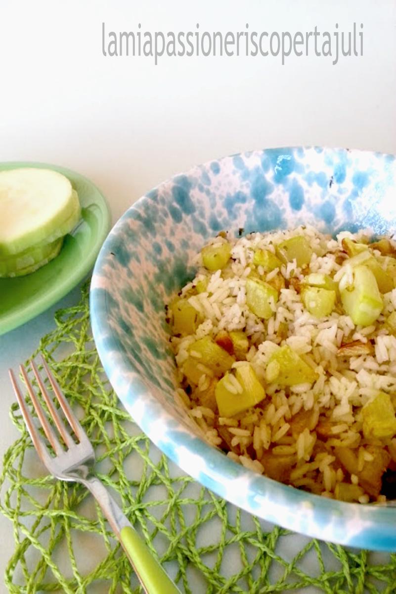 riso con zucchina g+