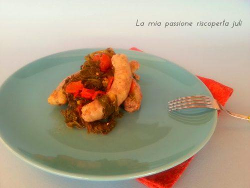 Salsiccia e qualeddu (verdura siciliana)