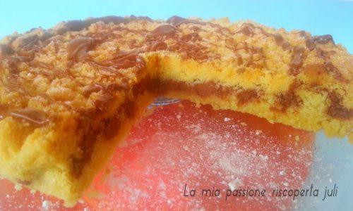 Torta sbriciolata con nutella