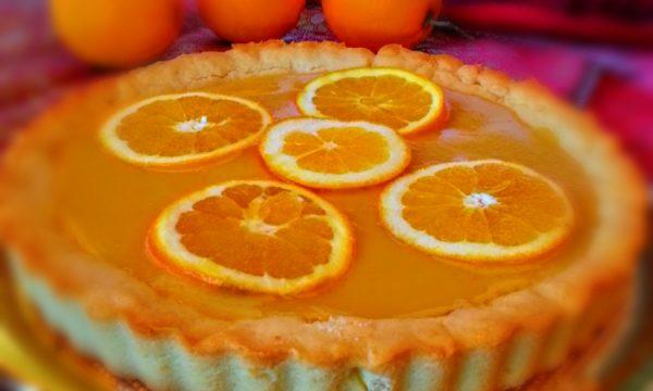 Crostata con crema di arancio