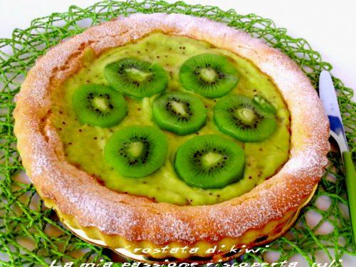 Crostata con crema di kiwi