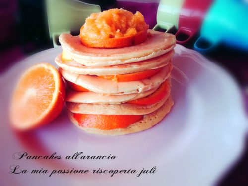 Pancakes ricetta americana al gusto di arancio