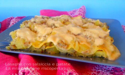 Lasagne con salsiccia e patate
