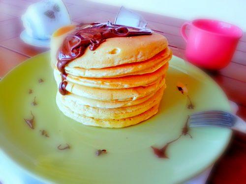 Pancakes con nutella