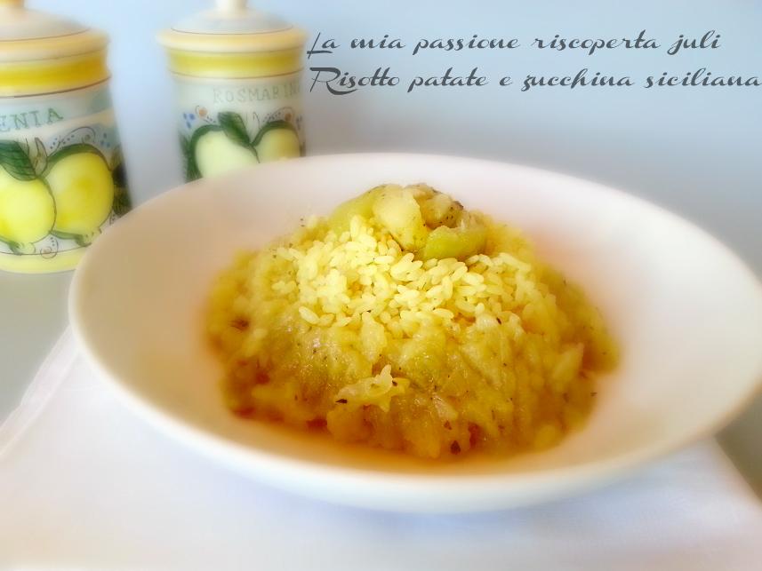 risotto patate e zucchina siciliana