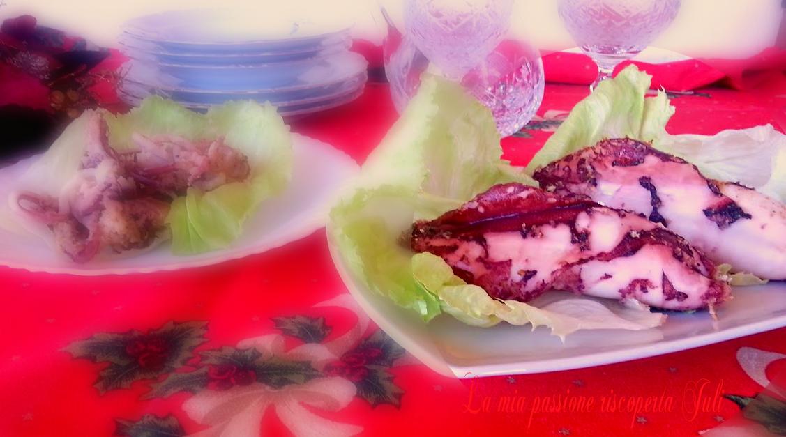 Calamari ripieni a forno e pistacchio