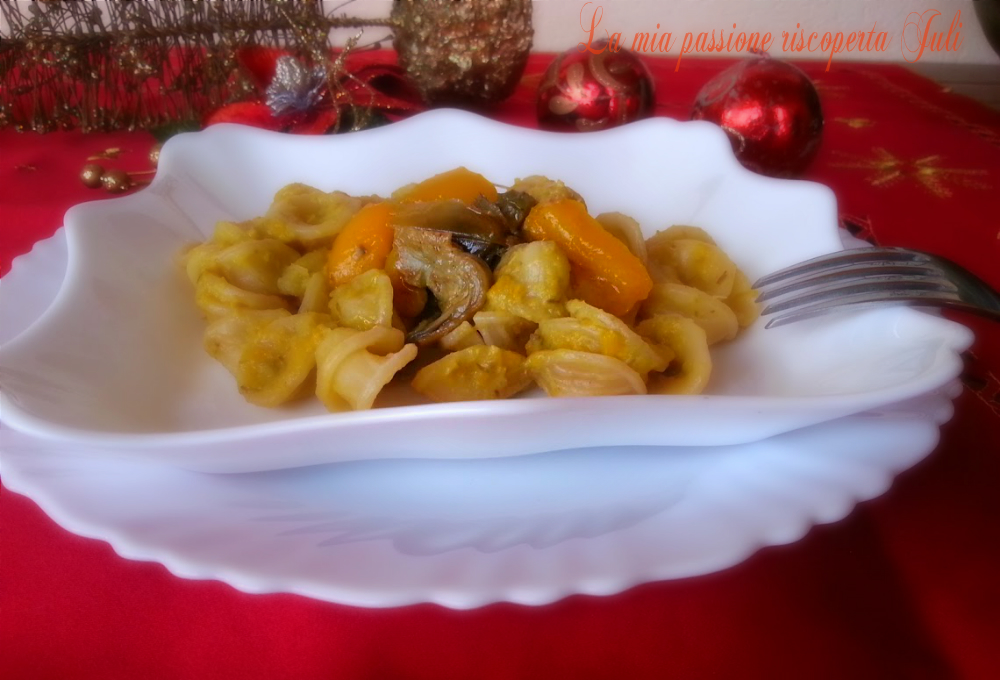 pasta con peperone giallo e carciofi