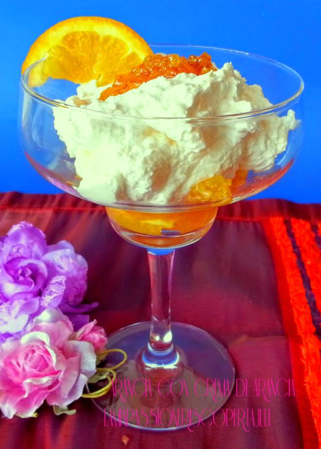 dessert veloci con crema di arancia