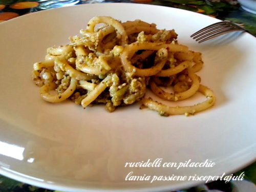 Ruvidelli con pistacchio e cavolfiori