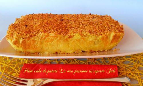 Plum cake di patate ripieno