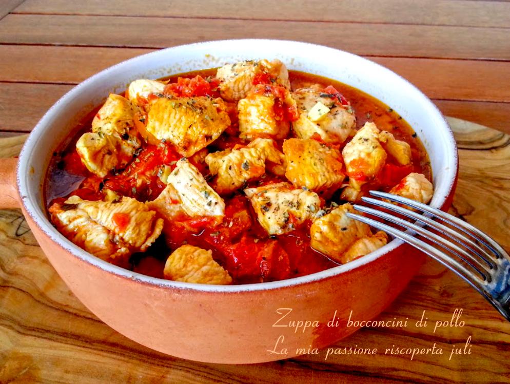 Zuppa di bocconcini di pollo