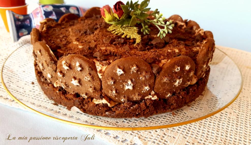 cheesecake  al mascarpone e pan di stelle