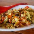 riso freddo con peperoni grigliati