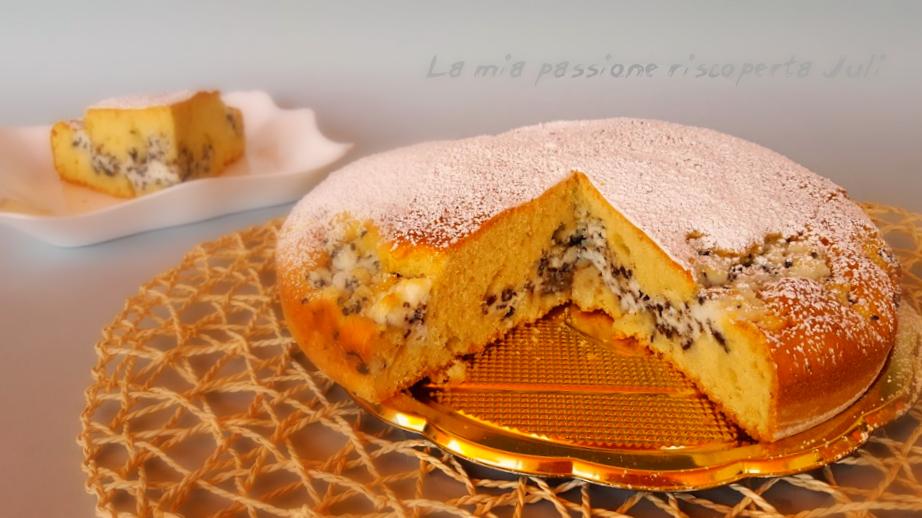 torta con ricotta CON SCAGLIE DI CIOCCOLATO