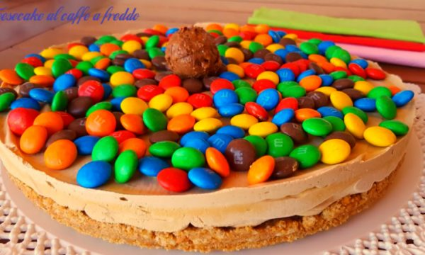 Cheesecake al caffè M&M (Smarties)