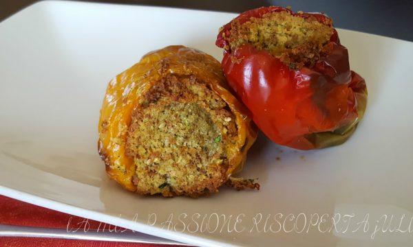 Peperoni ripieni zucchina e mollica