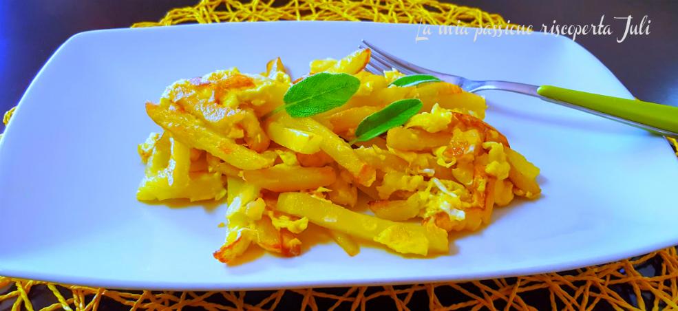 Patate fritte in padella con uova la mia passione for Quando raccogliere le patate