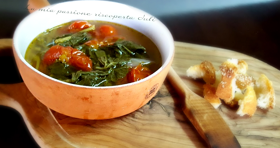 zuppa di tenerumi e pomodori