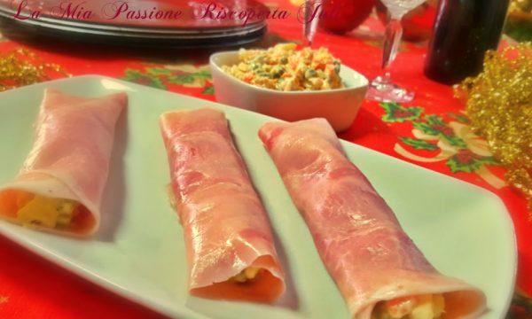 Involtino di prosciutto ripieno di insalata russa bimby