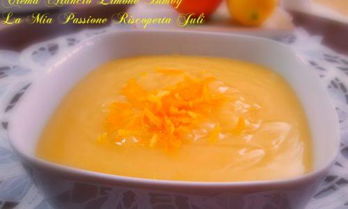 Crema all'acqua arancia e limone bimby