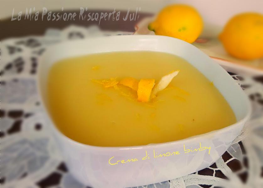 Crema di limone bimby TM5