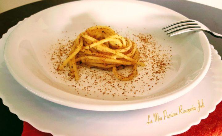 Spaghetti aglio olio e peperoncino con bottarda