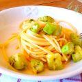 Spaghetti con zucchina siciliana
