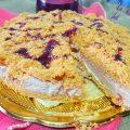 Cheesecake sbriciolata con marmellata di prugni