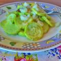 zucchina siciliana fritta con cipolla lunga
