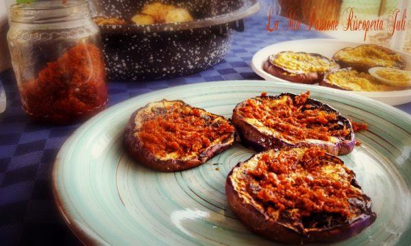 Melanzane grigliate e pesto di pomodori secchi