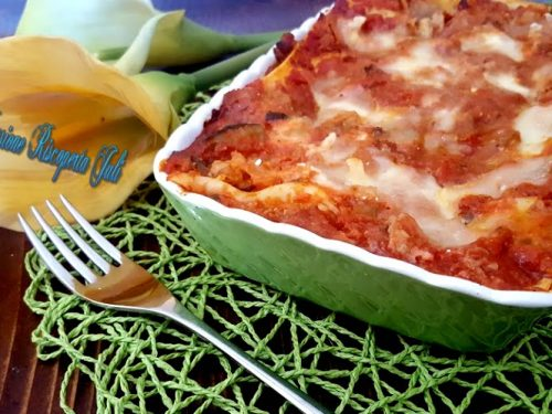 Lasagna di ragù e verdure