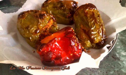 Peperoni cotti nel forno microonde