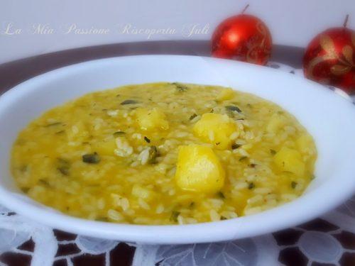Risotto con zucchina e patate