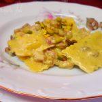 ravioli con cernia e crema di pistacchio fa