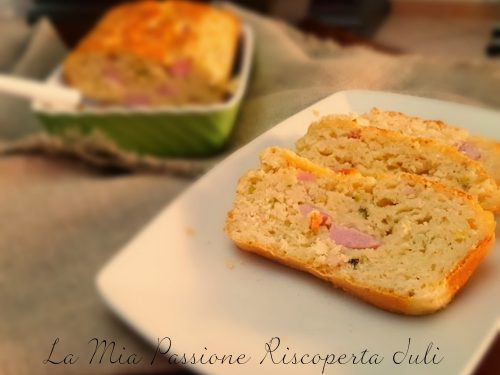 Plumcake con prosciutto pistacchio e formaggi