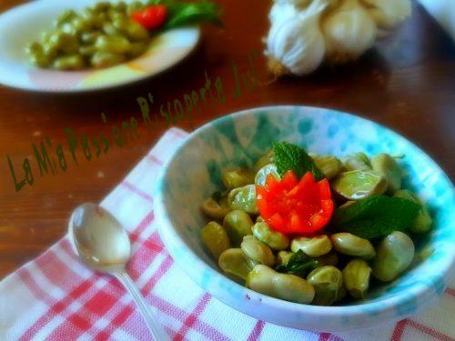 Fave con aglio olio e menta