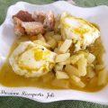 zuppa di patate con uova e zucchina