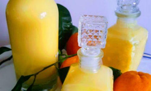 Liquore di arancia con latte e panna