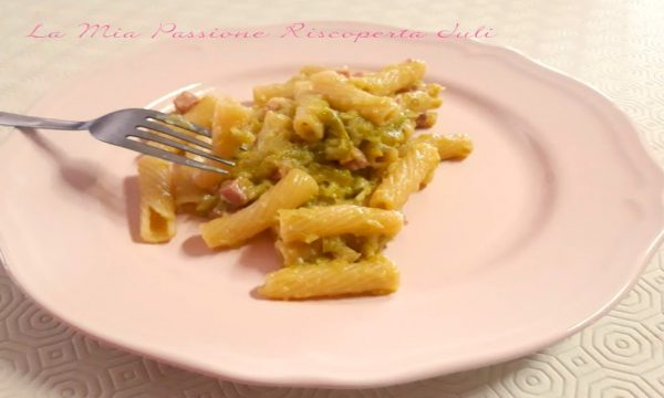 Carbonara con zucchina siciliana