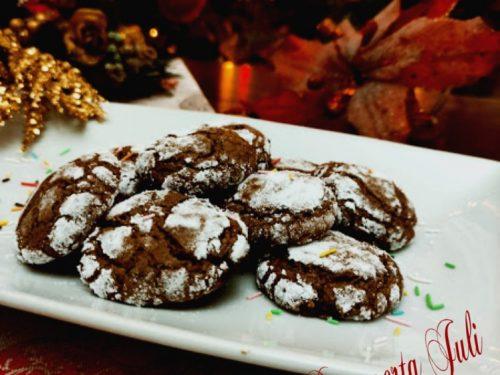 Biscotti al cacao con trito di arancio