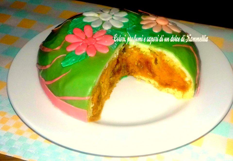 torta primavera da servire