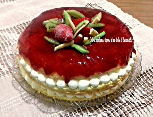 Torta di compleanno alle fragole di Kammellia