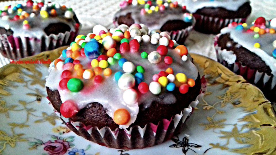 muffin con cioccolato al latte per carnevale