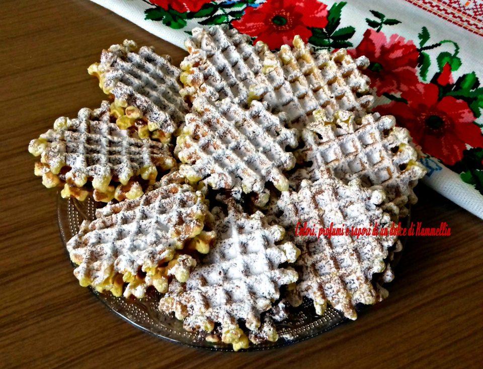 waffle ripieni con nutella