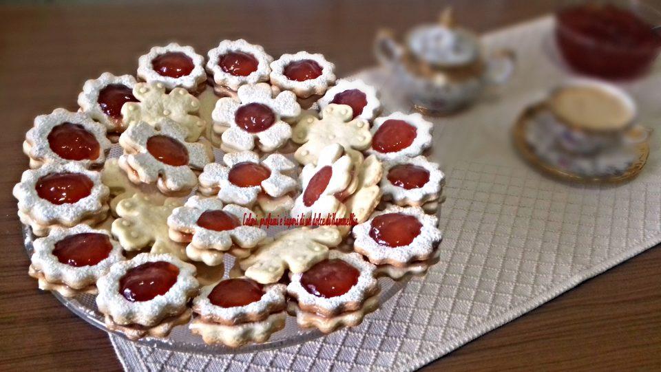 biscotti sfiziosi con farina di riso e marmellata