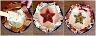 corona di pandoro - versare la crema e decorare