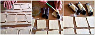 formare le cialde dei cannoli siciliani