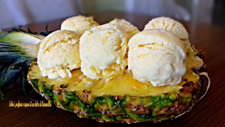 gelato cremoso all'ananas