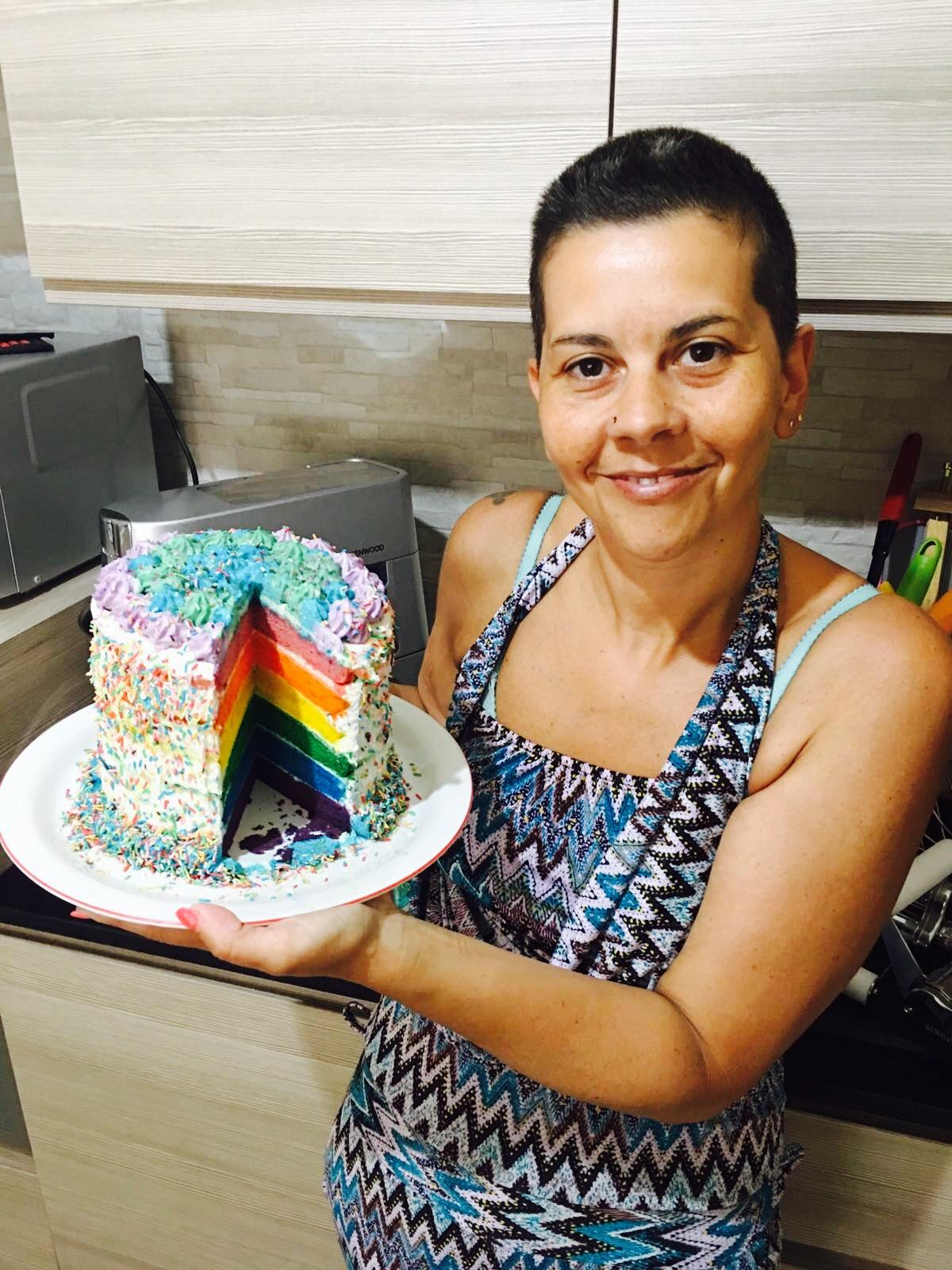 TORTA ARCOBALENO (rainbow cake)